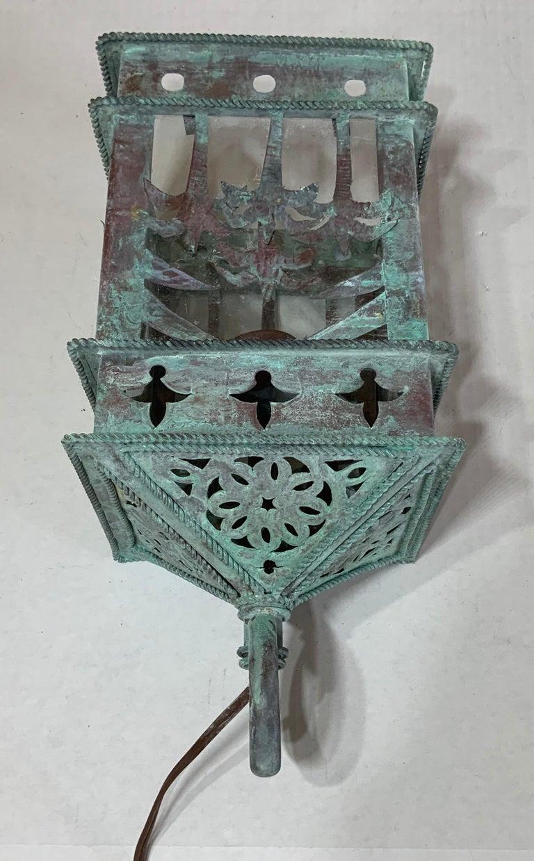 Small Vintage Hanging Copper Lantern 3