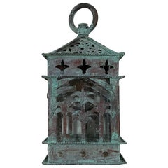 Small Vintage Hanging Copper Lantern