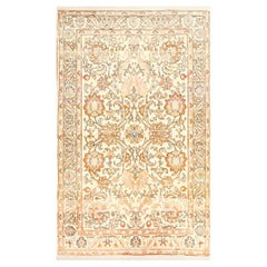 Small Vintage Indian Tabriz Rug. Size: 3 ft 5 in x 5 ft 6 in