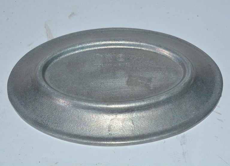 American Colonial Small Vintage Pewter Platter For Sale