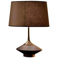 Small Vuvu Wood Table Lamp by Leo Alvarez