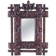 Small Wall Mirror Black Forest, Germany, circa 1880