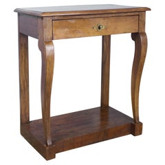Small Walnut Louis Philippe Console Table