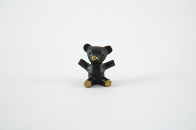 Mid-20th Century Small Walter Bosse Bear Figurine, Vienna, circa 1950s For Sale