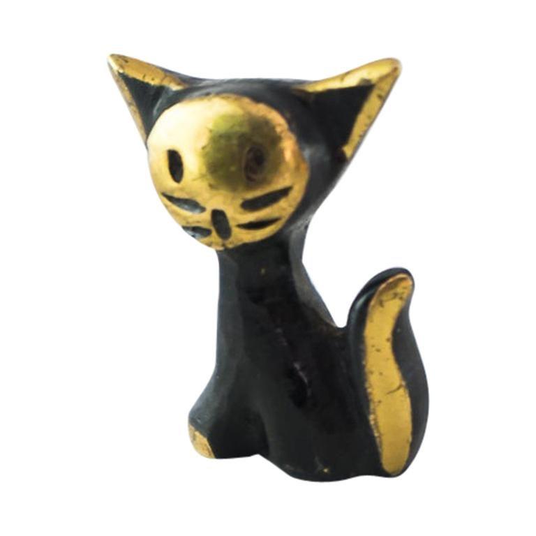 Small Walter Bosse Cat Figurine, Vienna, circa 1950s