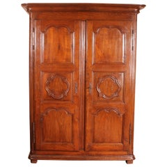 Small Wardrobe Louis XIV in Oak, 18th Century
