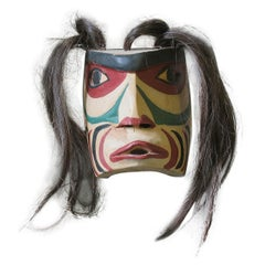 Small Warrior Spirit Mask, Northwest Coast by Charlie Mickey, Nootka Nation