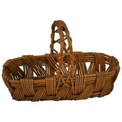 Small Willow Wicker Basket/Folk Art