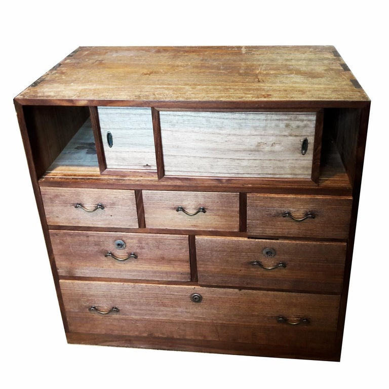 Small Wood Cabinet Or Drawer Chest Mid 20th Century