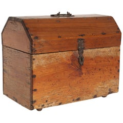 Small Wood French Trunk