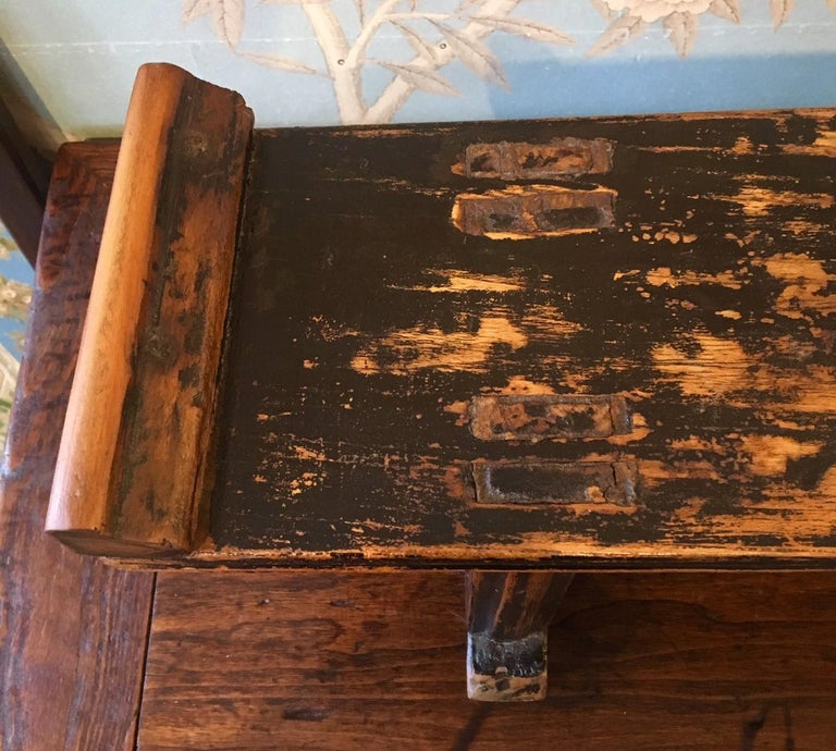 Lacquered Small Wooden Altar Table For Sale