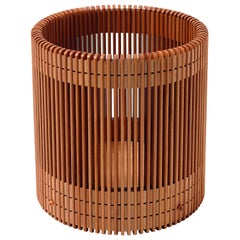 Emanuela Frattini Magnusson Small Wooden Wastepaper Basket for Bottega Ghianda