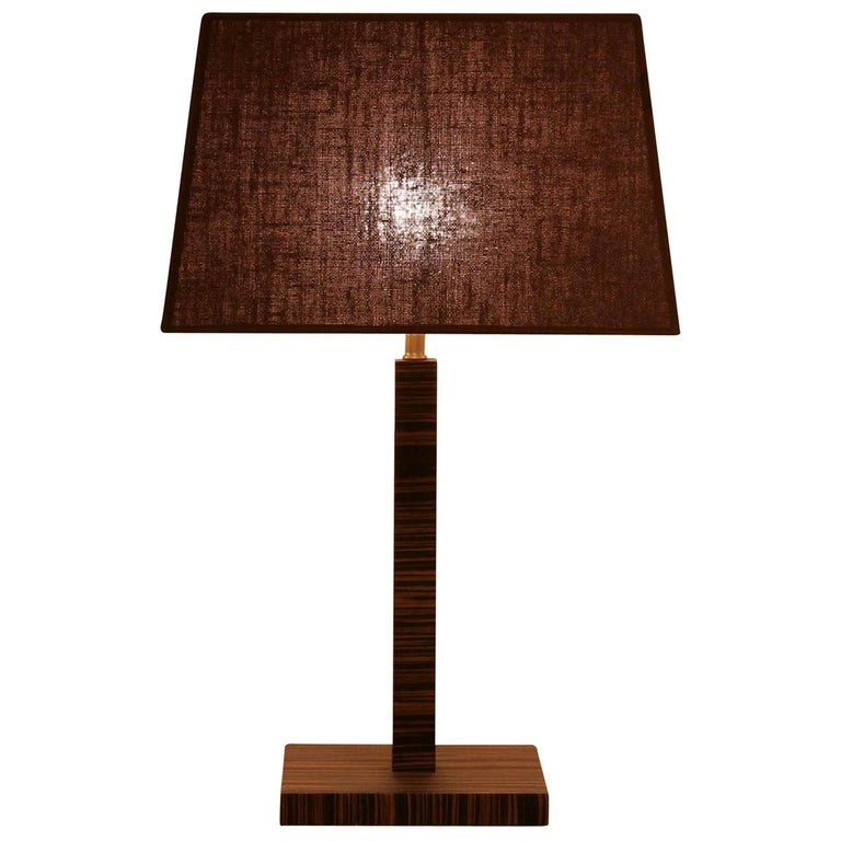 Small Woody Table Lamp For Sale