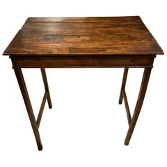 Small Yew Wood Multi Plank Provincial OccasionalTable