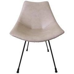 Small Zakonom Zasticeno Chair, White Leatherette, 1960s