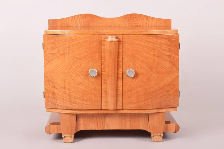 Ash Small Art Deco Vertiko from France, 1930-1939 For Sale