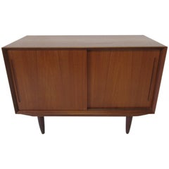 Smaller Danish Teak Credenza in the Style of Arne Vodder