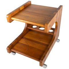 Smaller Tray Table or Bar Cart in Teak of Danish Design from the 1960s