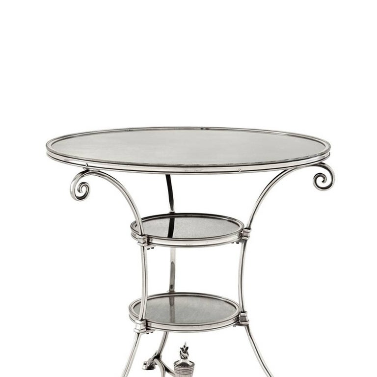 Side table smart castle with structure in antique