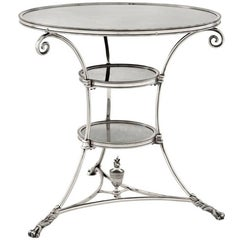 Smart Castle Side Table in Antique Silver Plated or in Antique Brass