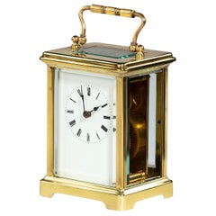 Smart Early 20th Century French Brass Encased Carriage Clock