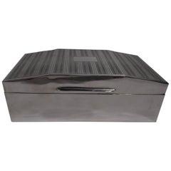 Smart English Art Deco Sterling Silver Box