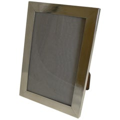 Smart English Sterling Silver Photograph Frame, 1919
