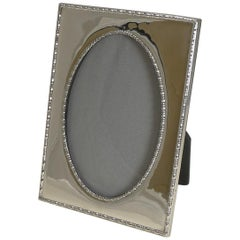 Smart Large Antique English Sterling Silver Photograph / Picture Frame - 1917