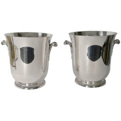Smart Pair of French Champagne Buckets by Ercuis, circa 1960