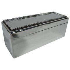 Smart Sterling Silver Trinket Box by Gorham