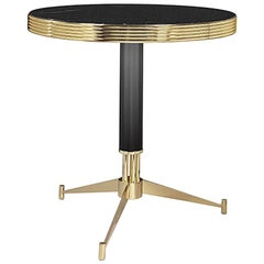 Smartly Side Table with Black Marble Top