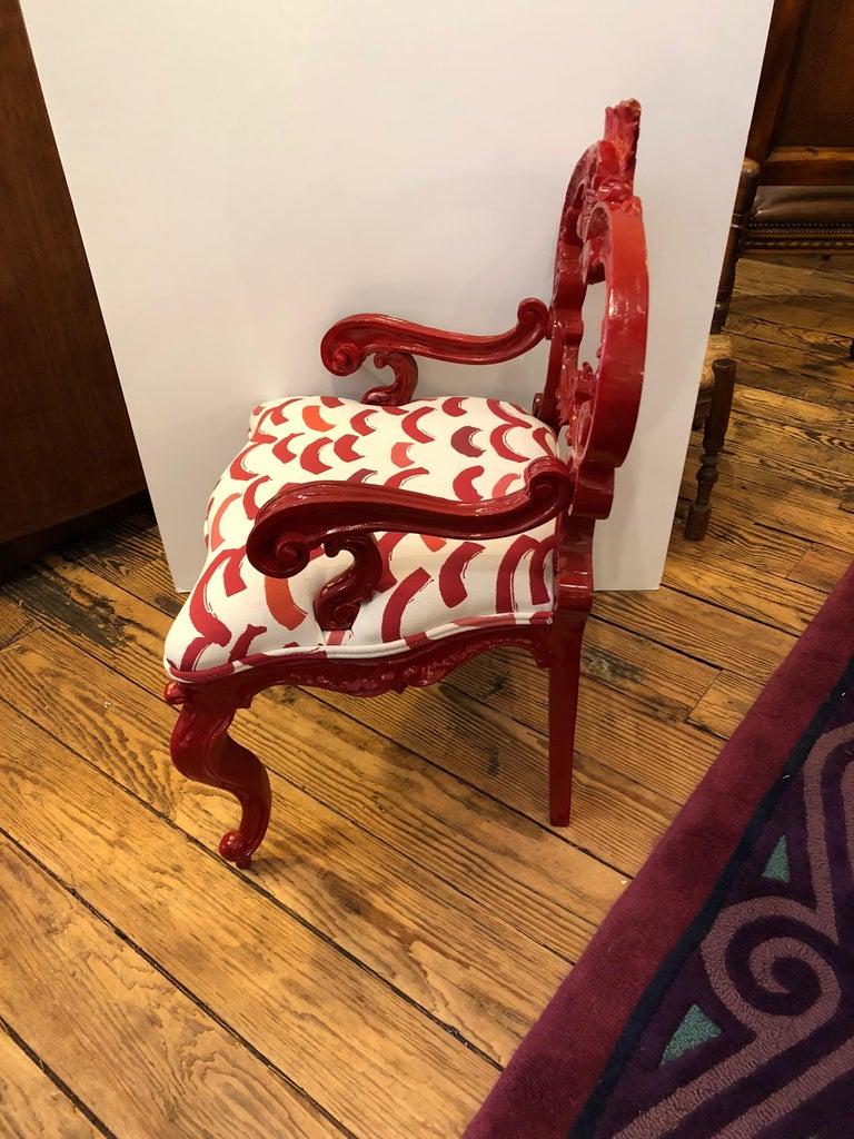 Smashing Designer Diminutive Laquer Rococo Chair For Sale 2