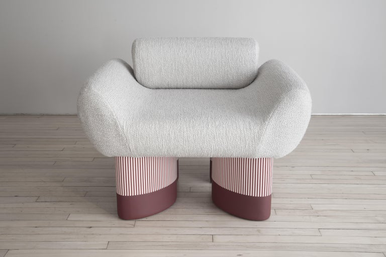 Contemporary Smile Chair Giancarlo Valle Edition Courbet For Sale
