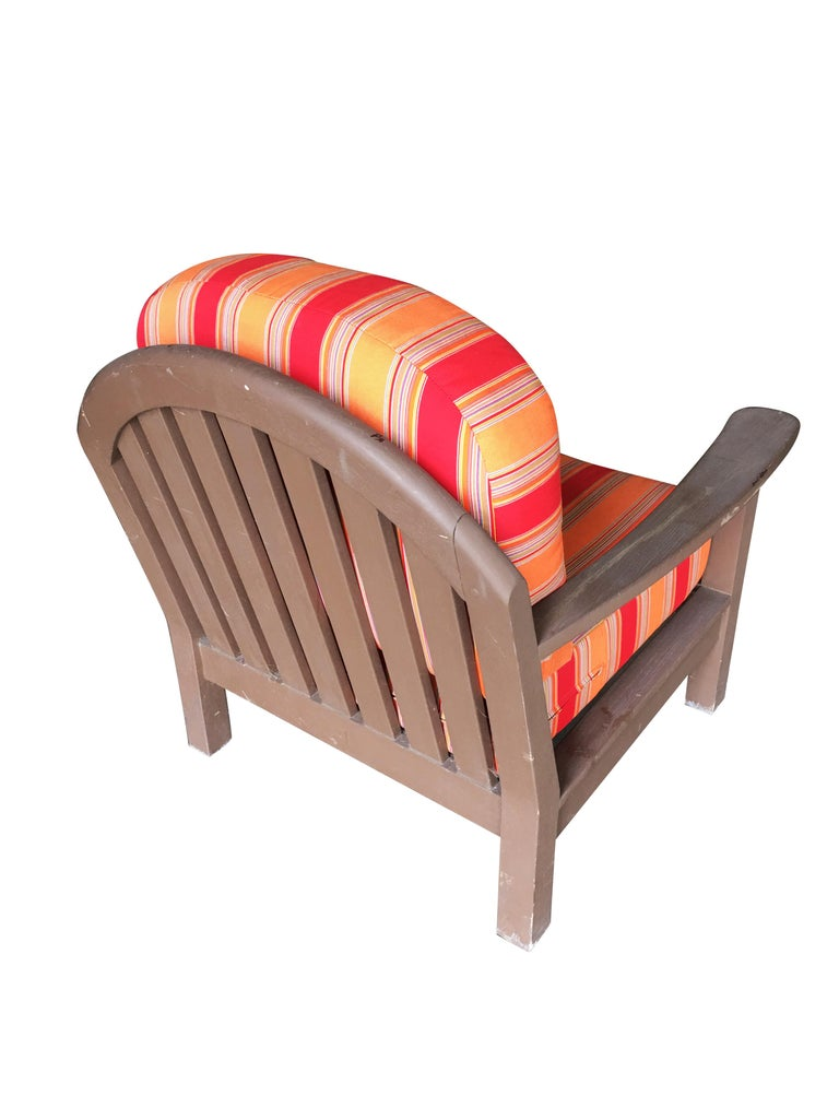 Modern Smith and Hawken Large Patio Lounge Chair, Pair For Sale