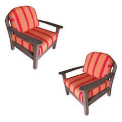 Smith and Hawken Large Patio Lounge Chair, Pair