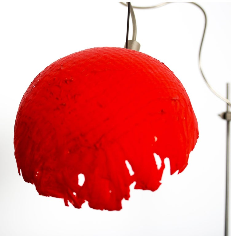 Italian Modern Catellani&Smith Red Table Lamp, 2004 In Good Condition For Sale In Byron Bay, NSW