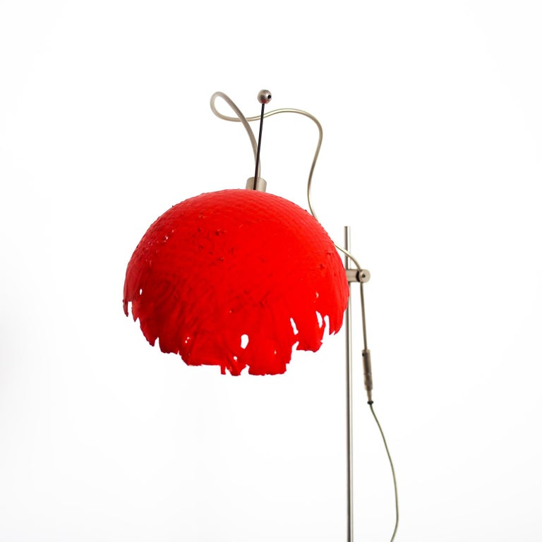 Contemporary Italian Modern Catellani&Smith Red Table Lamp, 2004 For Sale