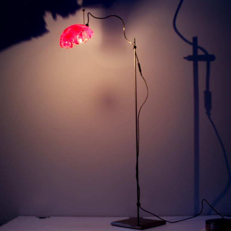 Italian Modern Catellani&Smith Red Table Lamp, 2004 For Sale 1