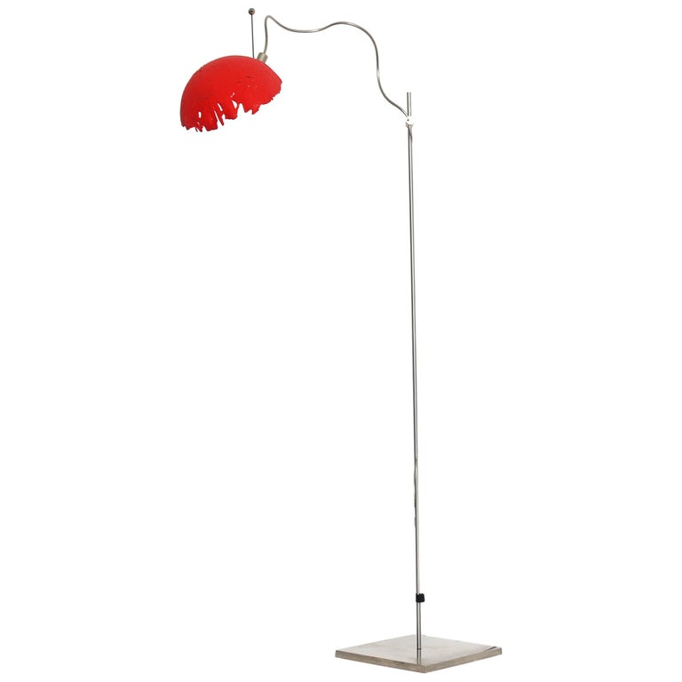 Italian Modern Catellani&Smith Red Table Lamp, 2004 For Sale