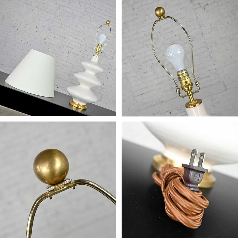 Smith Ivory Table Lamp Brass Details Christopher Spitzmiller for Visual Comfort For Sale 6