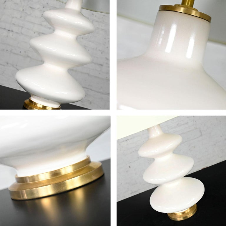 Smith Ivory Table Lamp Brass Details Christopher Spitzmiller for Visual Comfort For Sale 7