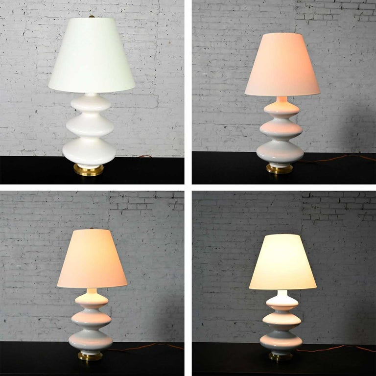 Smith Ivory Table Lamp Brass Details Christopher Spitzmiller for Visual Comfort For Sale 3