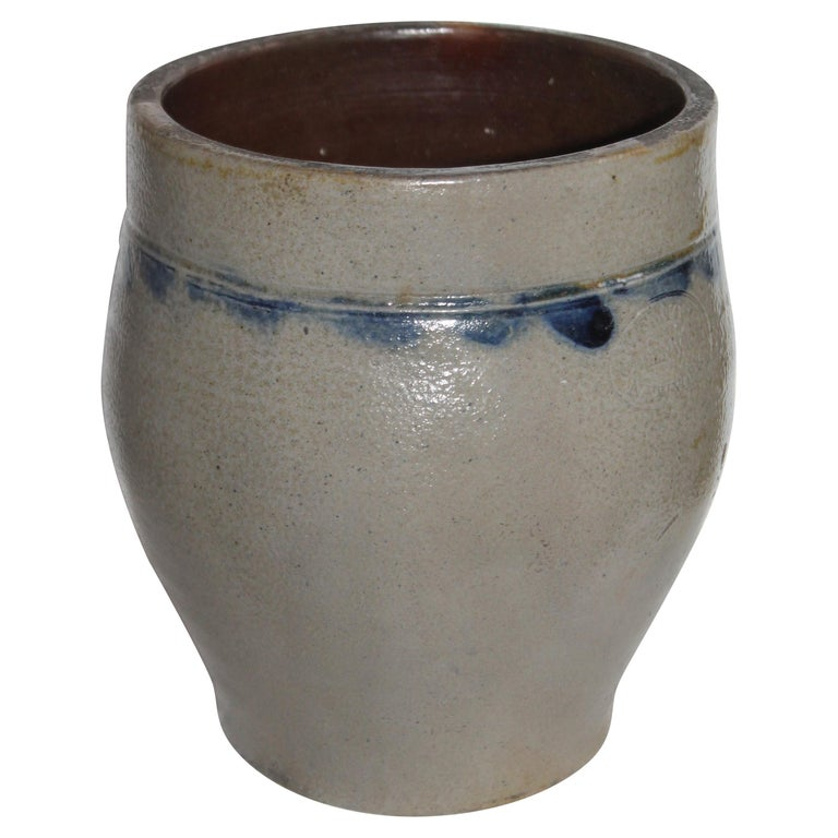 Smith Stoneware Jar Crock from NY For Sale