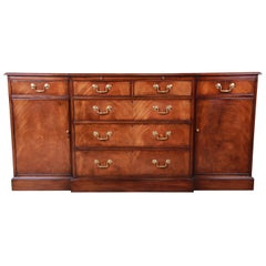 Smith & Watson Georgian Flame Mahogany Sideboard Credenza or Bar Cabinet