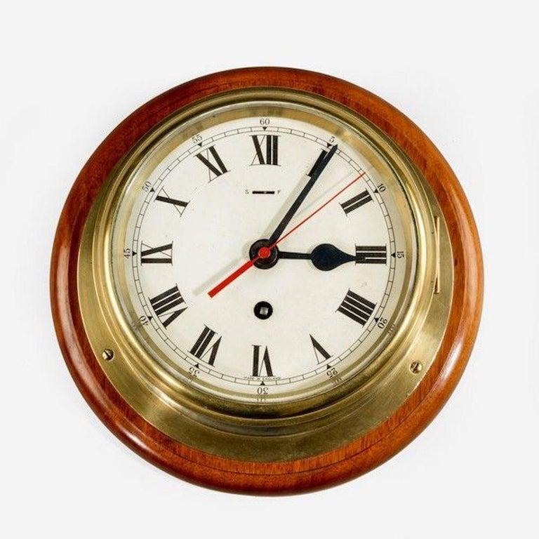 Smith's Astral Ship's Bulkhead Clock In Good Condition For Sale In Lymington, Hampshire