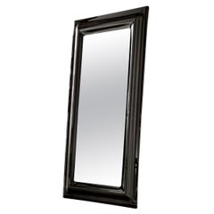 Smocked Black Rectangular Mirror