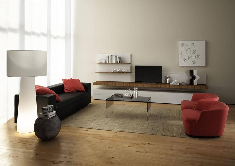 Modern Smoke Coffee Table in Two Sizes in Smoked and Clear Glass by Marcel Wanders For Sale