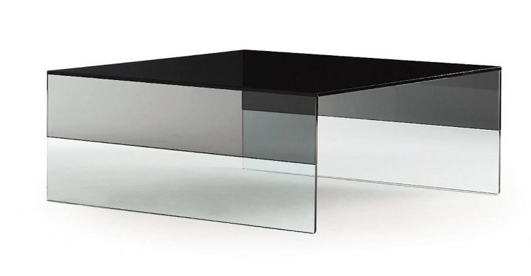 Smoke Coffee Table in Two Sizes in Smoked and Clear Glass by Marcel Wanders For Sale 1