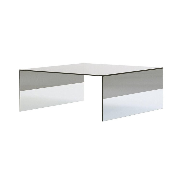 Smoke Coffee Table in Two Sizes in Smoked and Clear Glass by Marcel Wanders For Sale