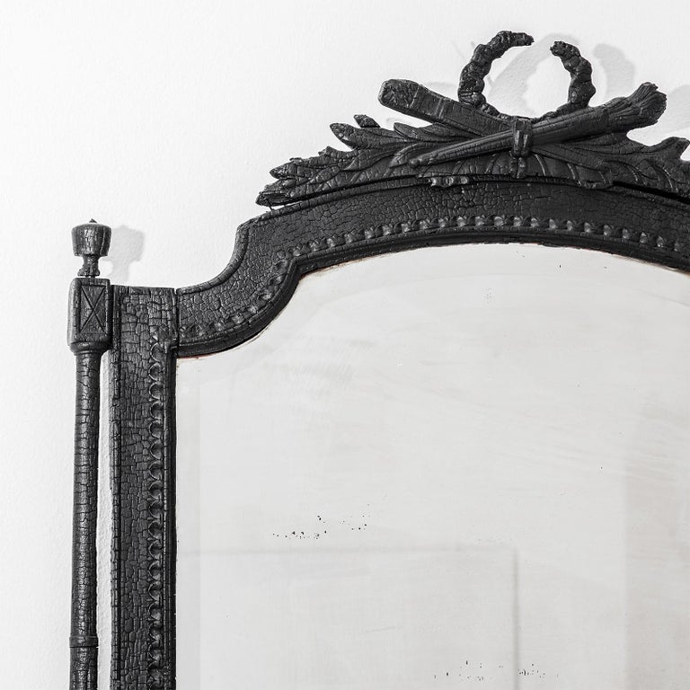 Dutch Smoke Mirror in Wood and Black Resin by Marteen Baas For Sale